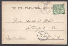 cz009i5. Canal Zone 9 ANCON, 11-22-1905 b/w PPC to US with bksps.
