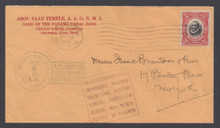 cz047h2. Canal Zone 47 on attempted First Flight cover Cristobal 10-6-1920 to US. Very Scarce 2c Mt Hope ovpt on Attractive & Interesting cover.