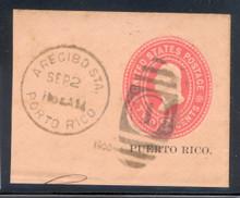 pru12. Puerto Rico U12 Full Corner Used Arecibo Sta. 9-2-1900 Extremely Fine