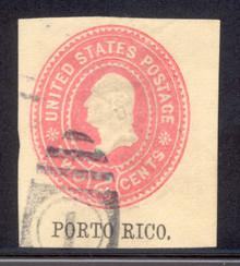 pru06. Puerto Rico U6 cut square used Very Fine