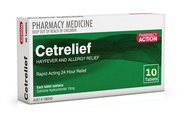 Pharmacy Action Cetrelief 10 Tablets 10mg