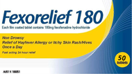 Pharmacy Action Fexorelief 50 Tablets 180mg