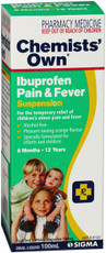 Chemists Own Ibuprofen Pain &Fever 100ML (Same as Nurofen)