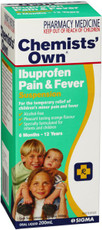 Chemists Own Ibuprofen Pain &Fever 200ml (Same as Nurofen)