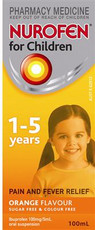 Nurofen Suspension 1-5years Orange 100ml
