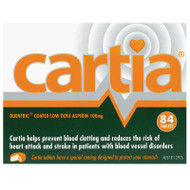 Cartia 100mg 84 Tablets