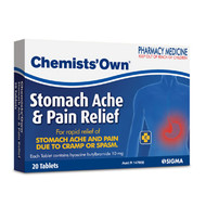 Chemist Own Stomach Ache & Pain Relief 20 Tablets