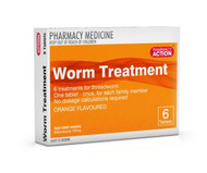 Pharmacy Action Worm Treatment 6 Tablets