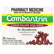 Combantrin Chocolate Square 24 Pack