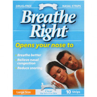 Breathe Right Strip Clear Large 10