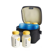 Cooler Bag with 4 breastmilk bottles 150ml - NEW