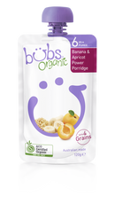 Organic Bubs Banana & Apricot Power Porridge 120g (Stage 2)