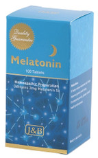 J&B Melatonin (homeopathic 5x) 100 Tablets