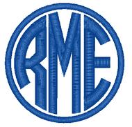 Circle Monogram with Circle Frame