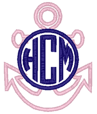 Anchor Applique Monogram