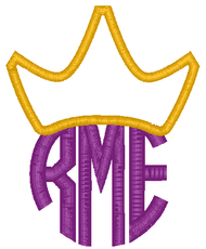 Circle Crown Applique Monogram