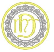 Doilie Scallop Monogram