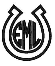 Horseshoe Applique Monogram