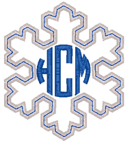 Snowflake Applique Monogram