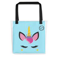 Unicorn Princess Baby Blue Tote bag