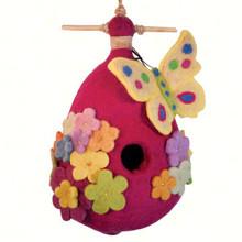 Butterfly Felt Birdhouse