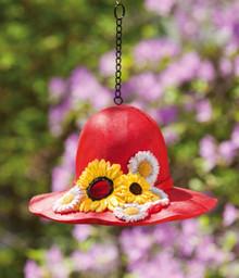 Birdhouse Sunflower Hat Red