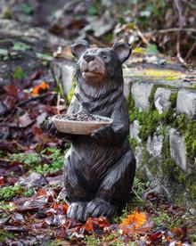 Bear Statue with Birdfeeder