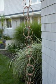 Double Link Rain Chain Copper