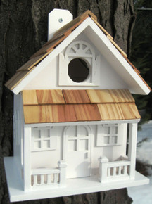 Country Cottage Birdhouse White