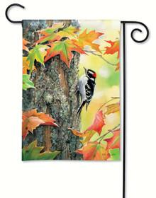 Woodpecker Garden Flag