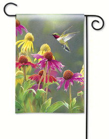 Hummingbird Heaven Garden Flag