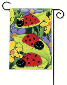 Ladybug Visit Garden Flag