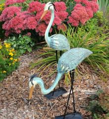Pair of Steel Herons