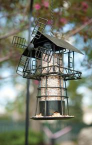 Windmill Bird Feeder Black