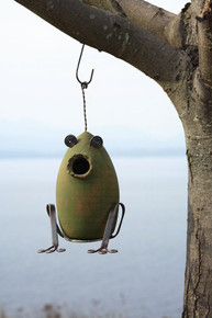 Toad Birdhouse Green