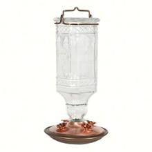Clear Antique Glass Hummingbird Feeder 24 oz