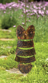 Owl Antique Brass Hanging