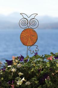 Ceramic Owl Staked