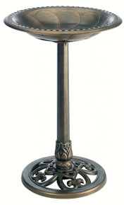 Pedestal Bird Bath Ant. Bronze