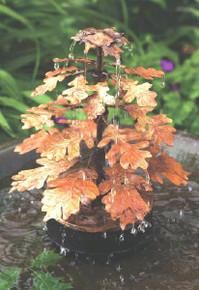 Oak Leaf Solid Copper Drip fountain