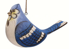 Fat Blue Jay Birdhouse