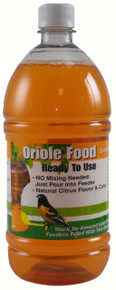 1 Liter (33.8 oz) Orange Oriole Nectar RTU All Natural- No Dyes