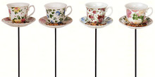 Tea cup with Saucer Stake Feeder