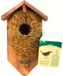 Bird Nest Pocket Coconut Fiber with roof