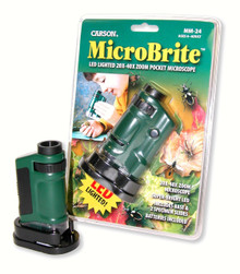 20x 40x Zoom Pocket Microscope with a built-in LED