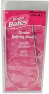 "Susan Bates Silvalume 24"" Circular Knitting Needle (Size US 2 - 2.75 mm)"