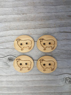 "Katrinkles Sheep Button 3/4"" Two Hole Buttons (Each)"