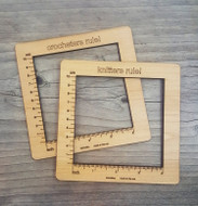 Katrinkles Gauge Swatch Measurement Ruler Tool For Crochet
