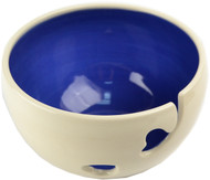 Cobalt Ceramic Yarn Bowl by Madeleine Coomey