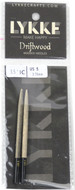 "LYKKE Driftwood 2-Pack 3.5"" Interchangeable Circular Knitting Needles (Size US 5 - 3.75 mm)"